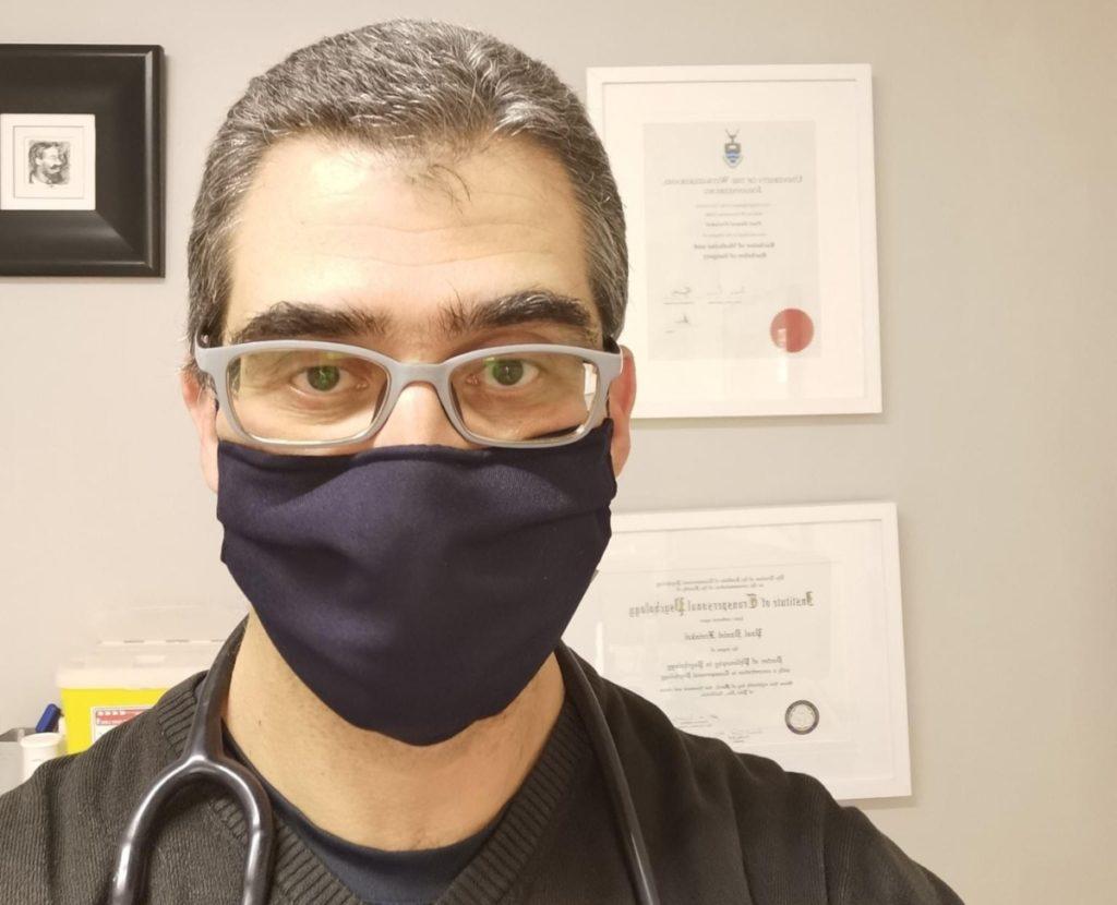 Dr Paul Freinkel uses X-Static masks
